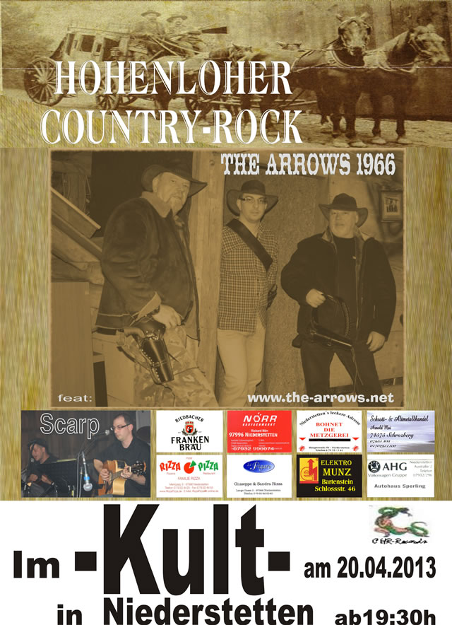 The-Arrows-1966 - Hohenloher Country-Rock