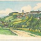 Ansicht von Bartenstein um 1850