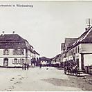 Ansichtskarte Schloß-Straße Bartenstein gegen 1910