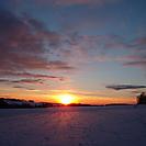 Sonnenuntergang über Bartenstein
