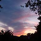 Sonnenuntergang über Schloss Bartenstein