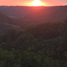 Sonnenuntergang überm Ettetal