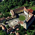 Luftaufnahme von Schloss Bartenstein